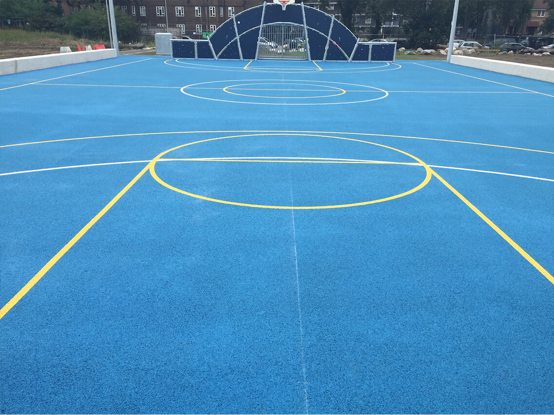 Polymeric Multi Use Games Area Surfacing
