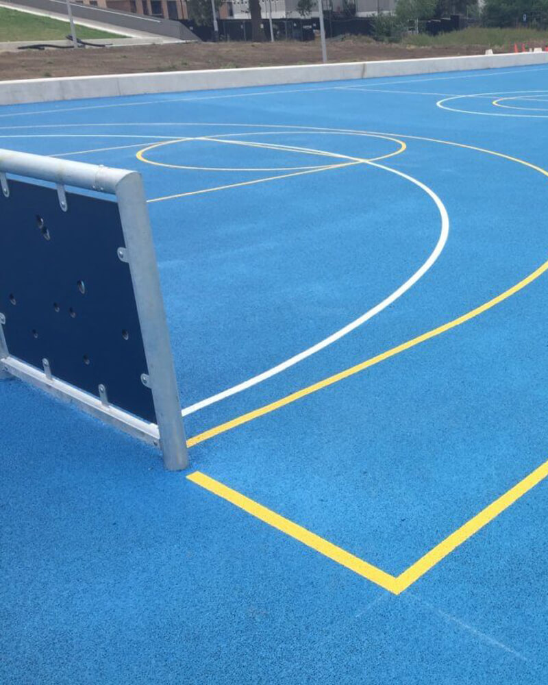 Sports Surfacing with Sports Line Markings