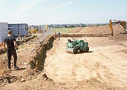 Ground works for surfacing